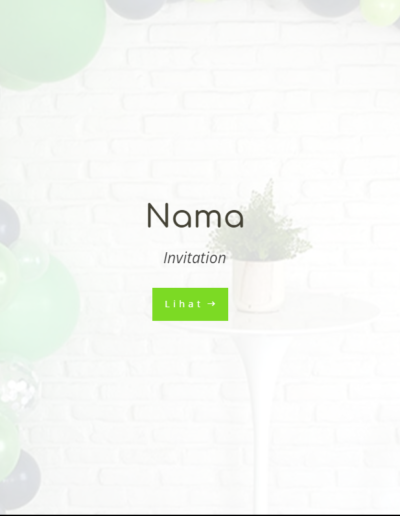 Invitee Free Template Placeholder Birthday Green