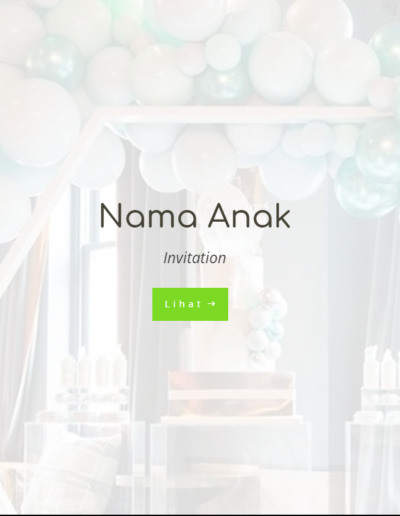 Invitee Free Template Placeholder Celebration Green
