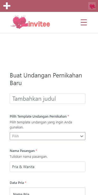 Gambar Halaman Buat Undangan Pernikahan Invitee Site