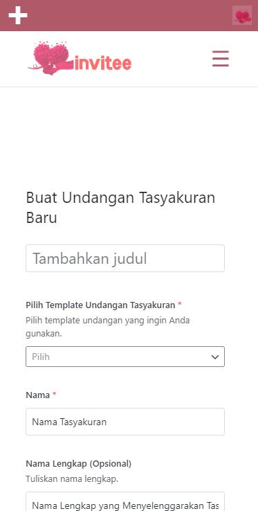 Gambar Halaman Buat Undangan Tasyakuran Invitee Site