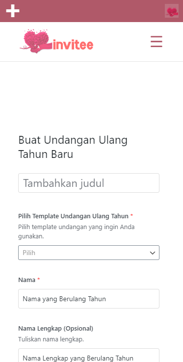Gambar Halaman Buat Undangan Ulang Tahun Invitee Site