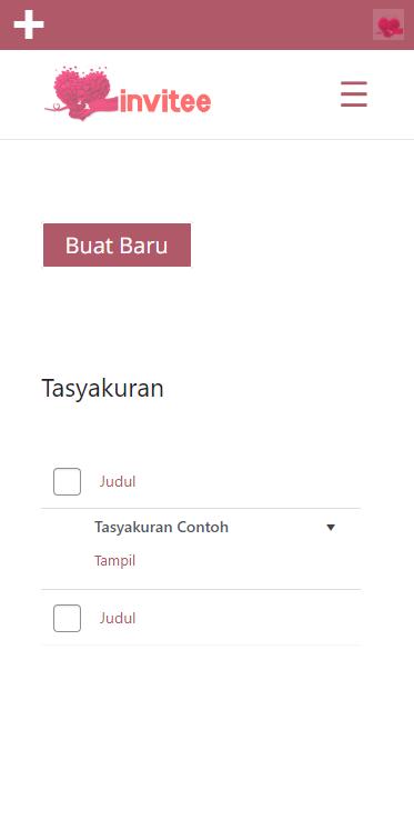 Gambar Halaman Undangan Tasyakuran Invitee Site