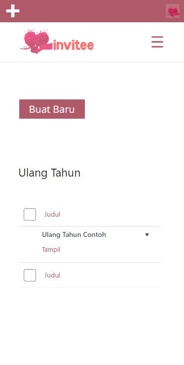 Gambar Halaman Undangan Ulang Tahun Invitee Site