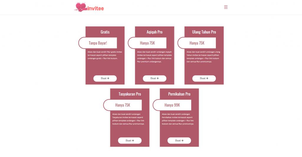 Gambar Pilih Paket Akun Invitee Site