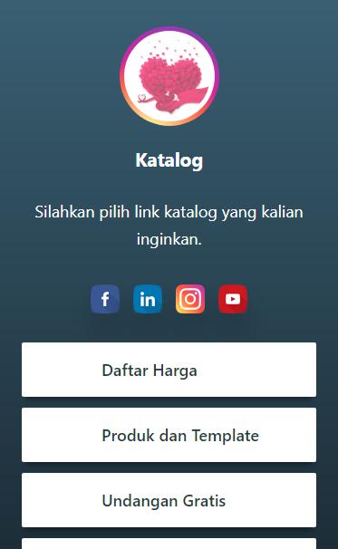 Gambar Screenshoot Tampilan Profil Tema Sindoro