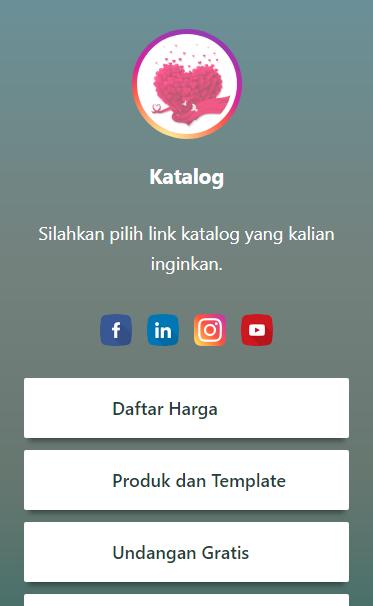 Gambar Screenshoot Tampilan Profil Template Ciremai Bio Link