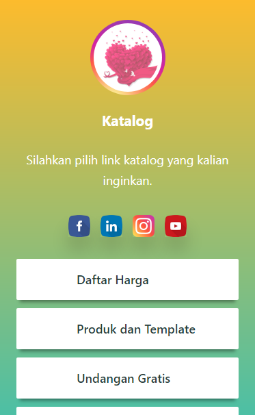 Gambar Screenshoot Tampilan Profil Template Merbabu LinkBioly