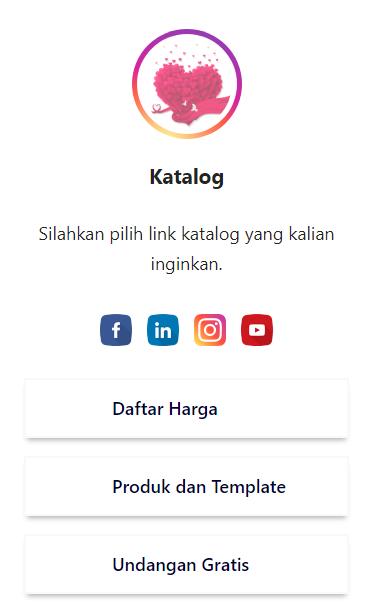 Gambar Tampilan Tema Profil Datar